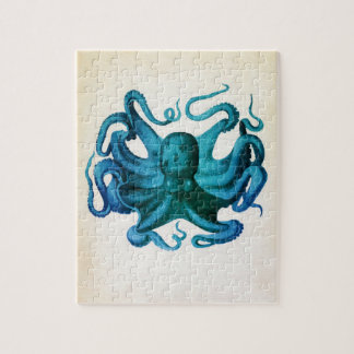 Watercolor Octopus Illustration Jigsaw Puzzle