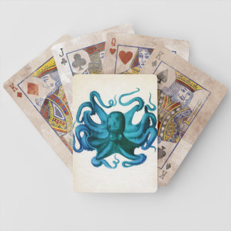 Watercolor Octopus Illustration Poker Deck