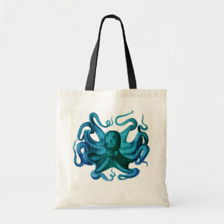 Watercolor Octopus Illustration Tote Bag