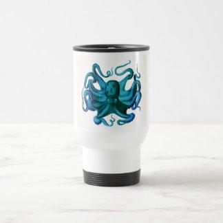 Watercolor Octopus Illustration Travel Mug