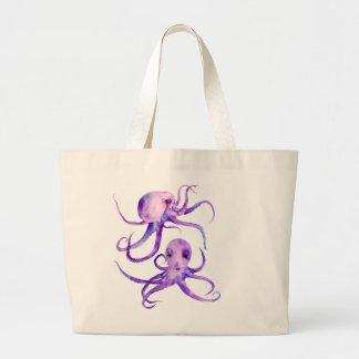 Watercolor Octopus Jumbo Tote Bag