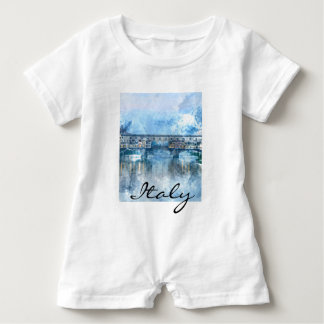 Watercolor of Florence Italy Baby Romper
