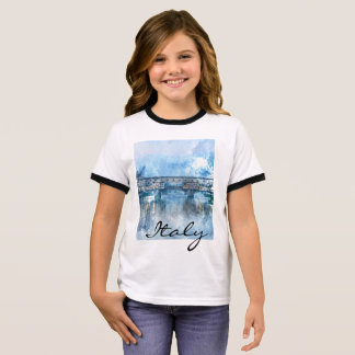 Watercolor of Florence Italy Ringer T-Shirt