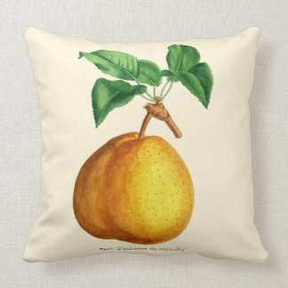 "Watercolor of Pear ""Duchesse de Mouchy"" Throw Pillow"