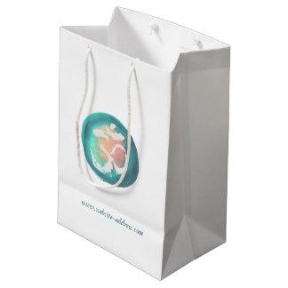 Watercolor Om Symbol YOGA Meditation Instructor Medium Gift Bag
