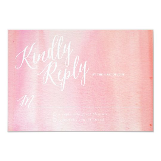 WATERCOLOR OMBRE PINK response card