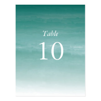 Watercolor Ombre Table Numbers Postcard