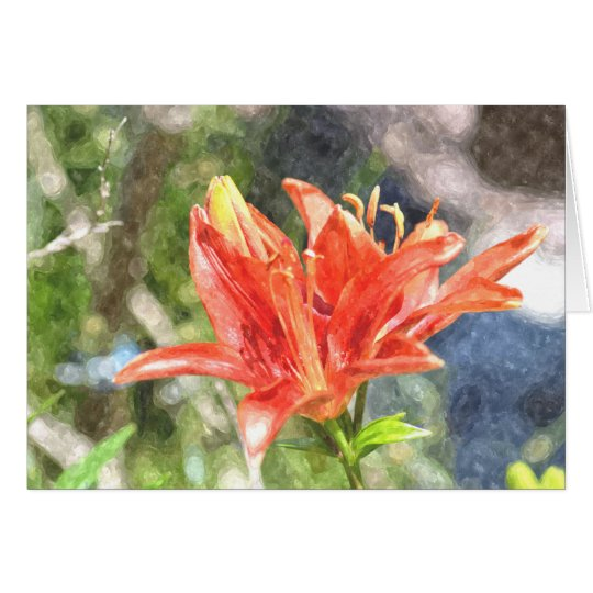 Watercolor Orange Lily Notecard