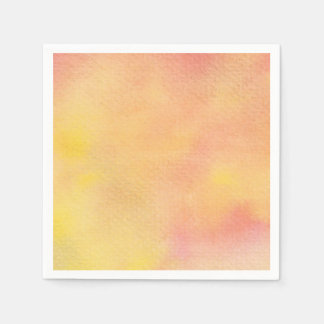 Watercolor Orange Pinks  - All Options Disposable Napkin