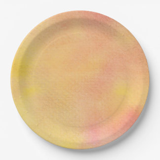 Watercolor Orange Pinks  - All Options Paper Plate