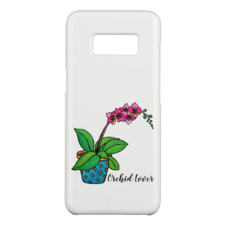 Watercolor Orchid Plant In Beautiful Pot Case-Mate Samsung Galaxy S8 Case