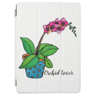 Watercolor Orchid Plant In Beautiful Pot iPad Air Cover