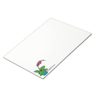 Watercolor Orchid Plant In Beautiful Pot Notepad