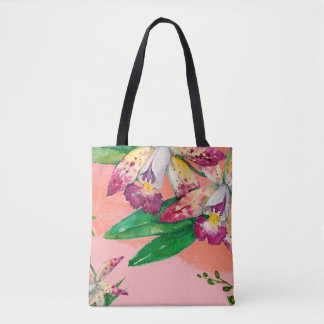 Watercolor Orchid Tote Bag
