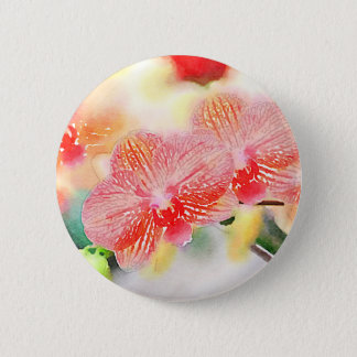 Watercolor Orchids 2 Inch Round Button