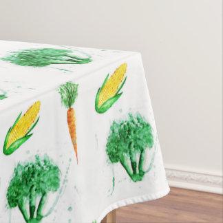 Watercolor organic vegetables tablecloth