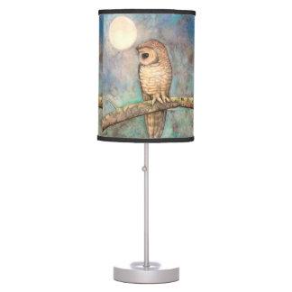 Watercolor Owl Wildlife Art Table Lamp