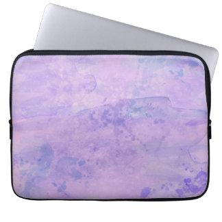 Watercolor Paint Background, Purple Laptop Sleeve