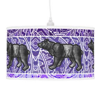 Watercolor Paint Repeat Animal Pattern Animals Pendant Lamp