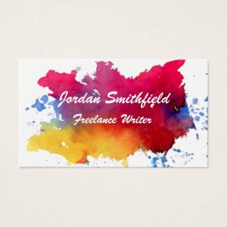 watercolor paint splatter splash business card