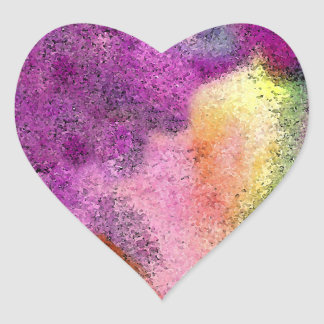 Watercolor painted Rice Paper Heart Sticker