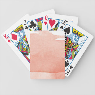 Watercolor Painting Coral Pink Ombre Modern Art Bicycle Playing Cards