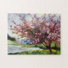 Watercolor Painting Landscape Jigsaw Puzzle
