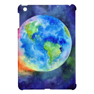 Watercolor painting of Earth iPad Mini Cover
