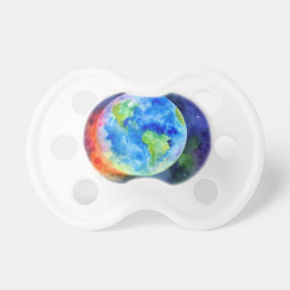 Watercolor painting of Earth Pacifier