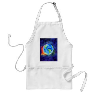 Watercolor painting of Earth Standard Apron