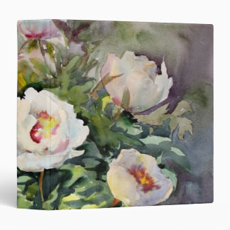 Watercolor Painting Of The Beautiful Flowers 3 Ring Binder