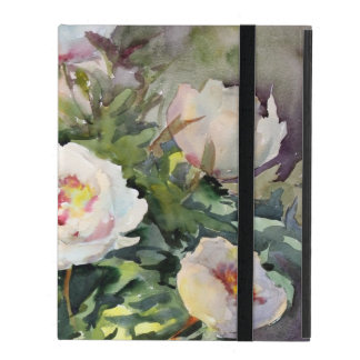 Watercolor Painting Of The Beautiful Flowers iPad Folio Cover