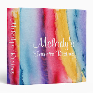 Watercolor Painting Painterly Recipe Binder