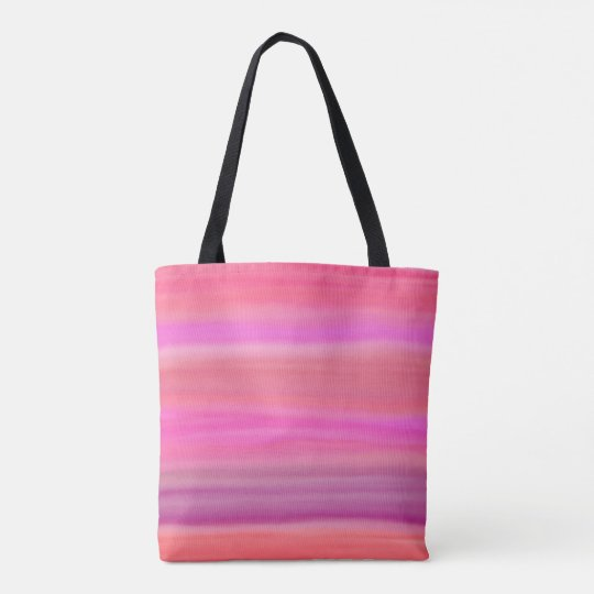 Watercolor painting pink red purple tote bag