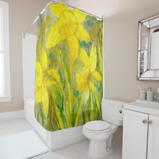 Watercolor Painting, Yellow Flowers Art, Daffodils