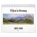 Watercolor paintings of German landscapes Calendar
