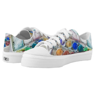 Watercolor Paints Low-Top Sneakers