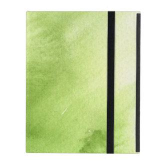 watercolor paints on a rough texture paper iPad cases