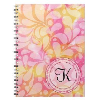 Watercolor Paisley Notebook