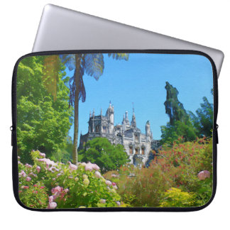 Watercolor palace laptop sleeve