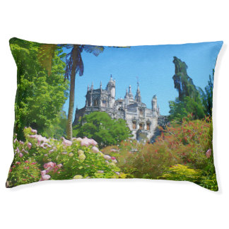 Watercolor palace large dog bed