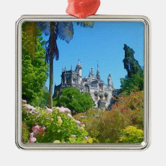 Watercolor palace metal ornament