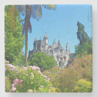 Watercolor palace stone coaster