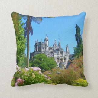 Watercolor palace throw pillow