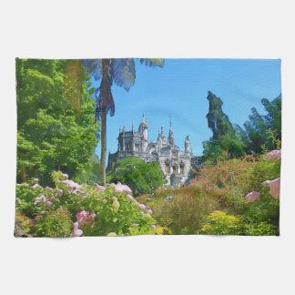 Watercolor palace towel