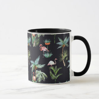 Watercolor Palm Pattern Mug