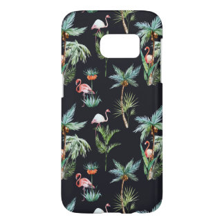 Watercolor Palm Pattern Samsung Galaxy S7 Case