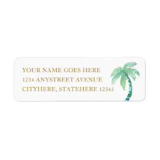 Watercolor Palm Tree for Beach Destination Wedding