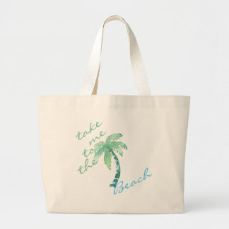 Watercolor Palm Tree Personalized Tote