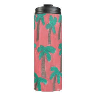 Watercolor Palm Tree Tumbler